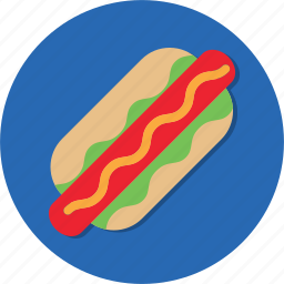 bread, food, hot dog, meat, snack icon