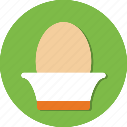 bowl, cooking, egg, food icon