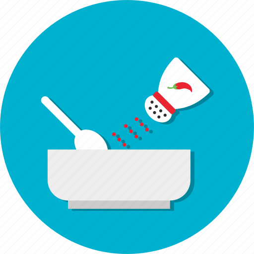breakfast, food, kitchen, meal, pepper, salt, spices icon