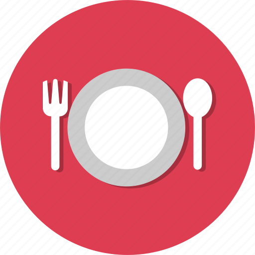 cooking, fork, plate, restaurant, spoon icon