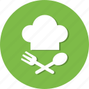 chef, cook, fork, spoon icon