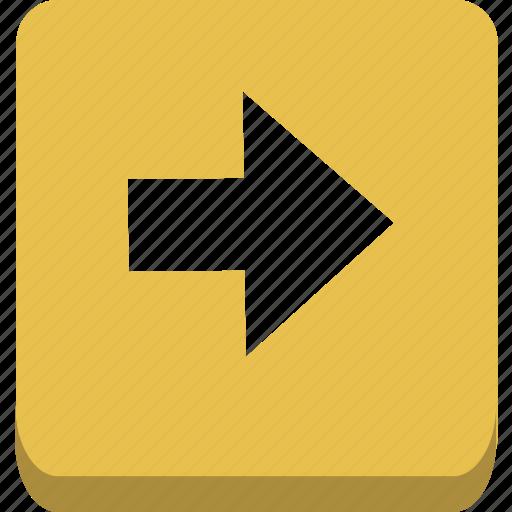 arrow, next, right icon