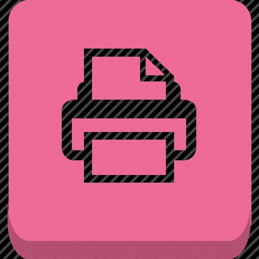 office, print, printer icon