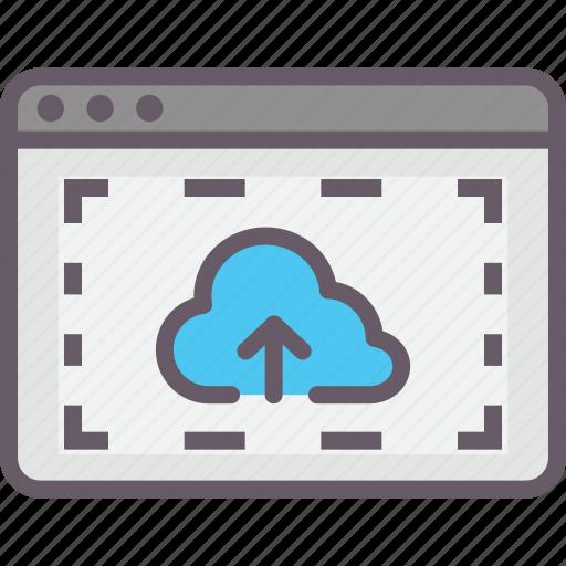 browser, cloud, downloaden, uploaden icon