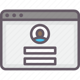 account, browser, login, sign in icon