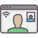 browser, call, chat, skype, video icon