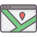 browser, maps, travel, travel directions icon