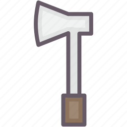 ax, lumber, tools, working icon