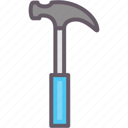 carpentry, hammer, tools, working icon