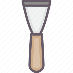 plasterer, spatula, tools, working icon