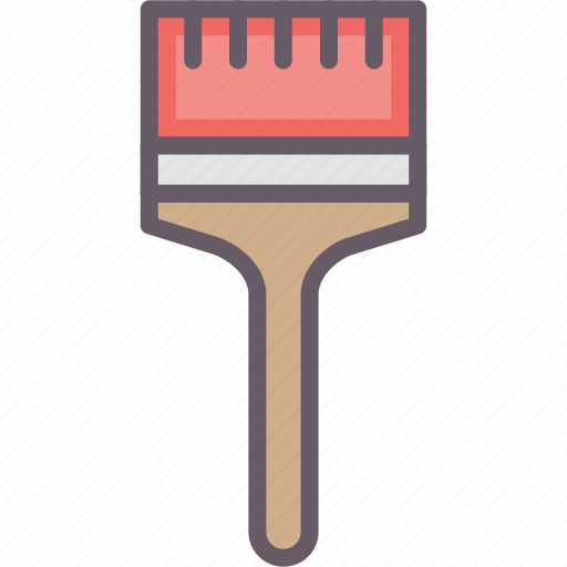 brush, paint, tools, working icon