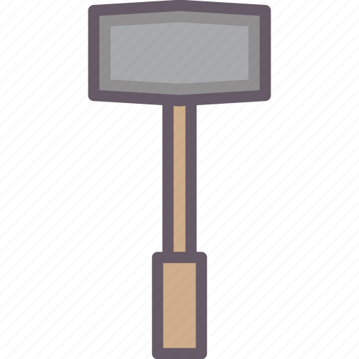 hammer, ticking, tools, working icon
