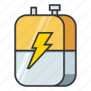 battery, electronicparts, energy, galvanic cell, power source, voltaic cell icon