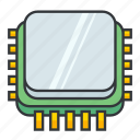 alu, central processing unit, core, cpu, electronicparts, i/o, microprocessor icon