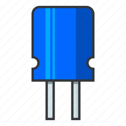 capacitance, capacitor, condenser, dielectric, electrical circuit, electronicparts, supercapacitors icon