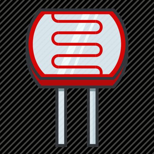 electronicparts, ldr, light-dependent resistor, light-sensitive, photocell, photoresistor icon
