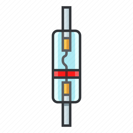 diode, electric, electronic, electronicparts, electronics, semiconductor diode, zener diode icon