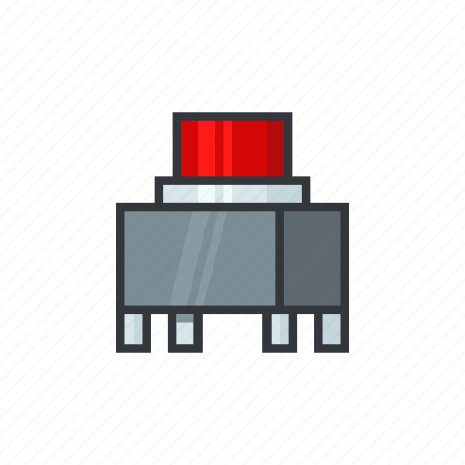 electric, electricity, electronicparts, off, power, switch, tactile switch icon