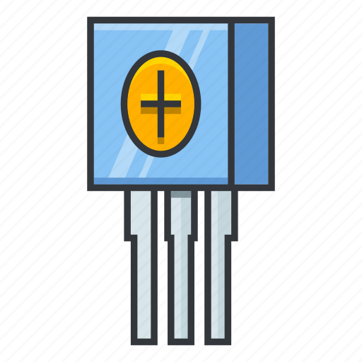 electronicparts, trimmer potentiometer, trimpots icon