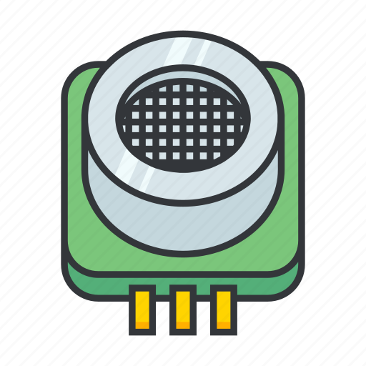 electronicparts, navigation, nearby, sonar, ultrasonic range finder icon