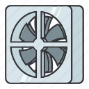 a/c, air, circuitdiagram, cooling, electronicparts, fan, vent icon