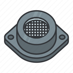 beeper, buzz, buzzer, electric bell, electronicparts, piezoelectric disk icon