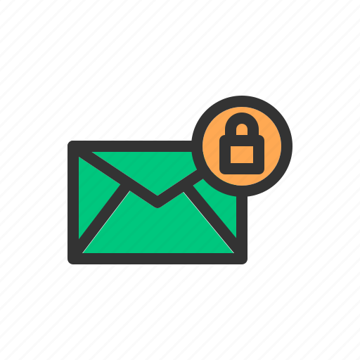access, email, lock, login, mail, message, security icon