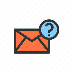 email, error, mail, question, server icon