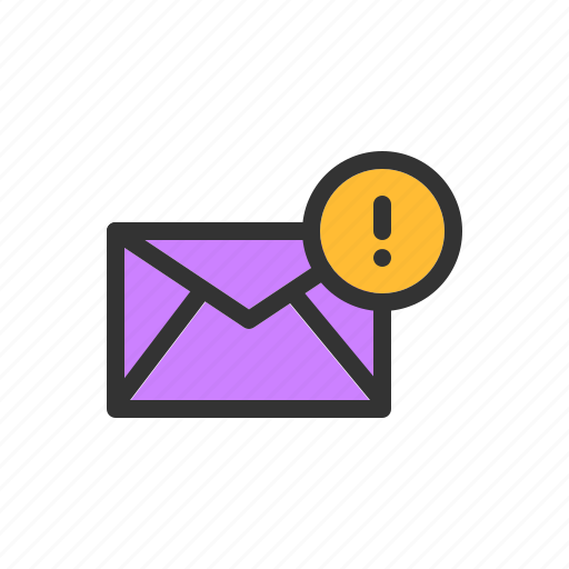 alert, email, mail, message, notification icon