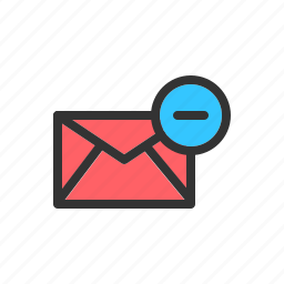 clear, delete, discard, email, mail, message, remove icon