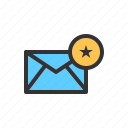 crucial, email, favorite, important, mail, message, star icon