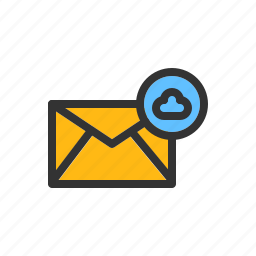 cloud, computing, email, mail, message, server icon