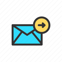 email, forward, forwarding, mail, send, sending icon