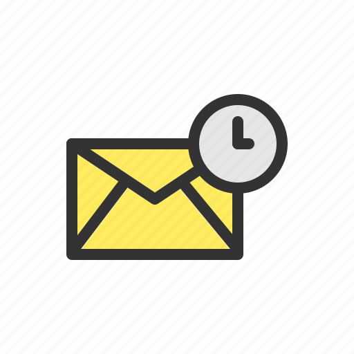 date, email, mail, schedule, server, time, timer icon