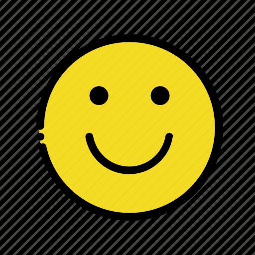 cute, emoji, happy, smiley icon