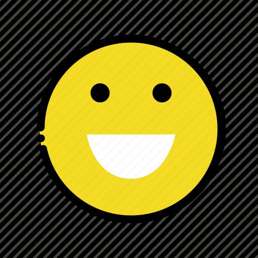 big, happy, ok, smile icon