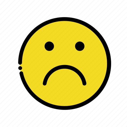 cry, down, dull, sad, smiley icon