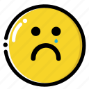 cry, down, emotion, loose, poor, sad, unhappy icon