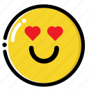 love, smile, valentine icon
