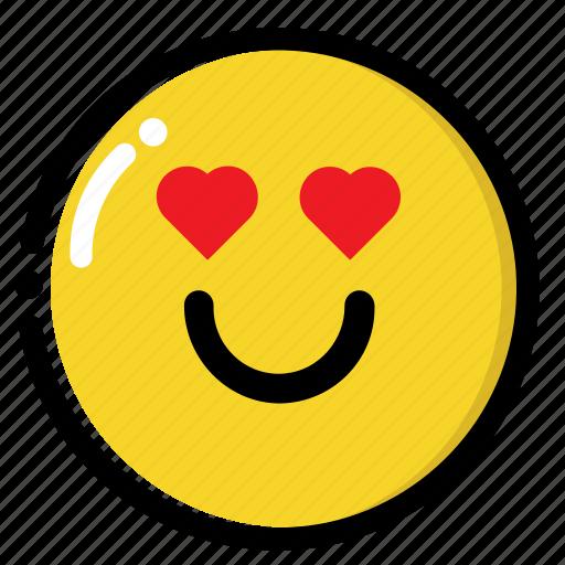 love, smile, valentine icon
