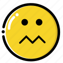 anxious, down, nurvous, sad icon
