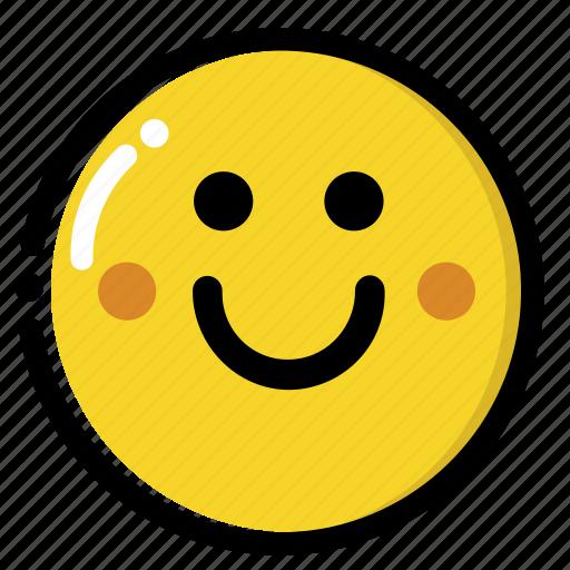 emojis, face, love, shy icon