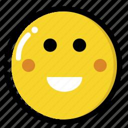 happy, love, shy, smile icon