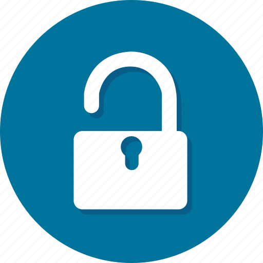 lock, privacy, security, unlock, unprotected, unsafe, unsecure icon