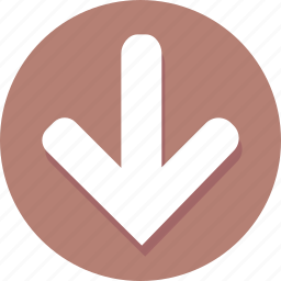 arrow, direction, down, download, navigation, pointer icon