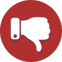 dislike, down, finger, hand, negative, thumbs, vote icon