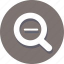 explore, find, magnify, minus, out, search, zoom icon