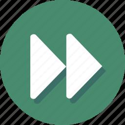 audio, fast, forward, media, multimedia, next, player icon
