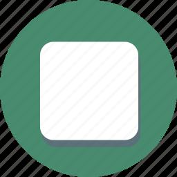 control, media, multimedia, player, shape, square, stop icon