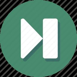 forward, media, multimedia, next, player, skip, track icon
